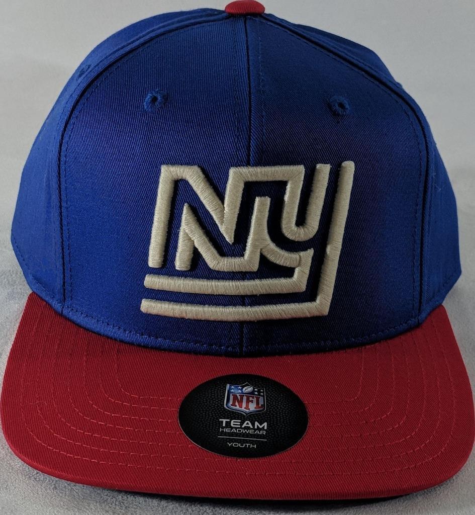 LZ NFL Team Apparel Youth One Size OSFA New York Giants Baseball Hat Cap NEW i10 image 3