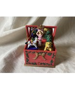 AVON Gift Collection Musical Toy Box Ornament Animated Plays Jingle Bell... - $14.84