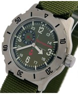 Vostok Komandirskie K-35 Russian Military Watch Green K35 with Zulu Strap 350501 - $83.54