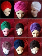 TURBAN STYLE,Head Wrap Hat,Bandana,Scarf,Hair Loss,Indian,Vintage - $1.94+
