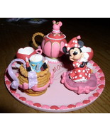 Disney Minnie Mouse Miniature Tea Set In Original box - $125.99