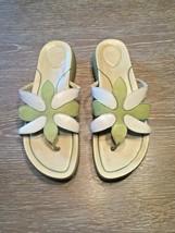 Dansko Flower Flip Flops Thong Sandals Green and White Size 40 USA 10  - $23.08