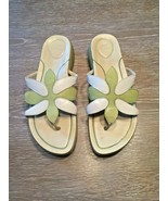 Dansko Flower Flip Flops Thong Sandals Green and White Size 40 USA 10  - $23.08