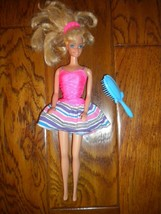 Vintage 1990's Mattel Barbie Doll Blonde Twist Waist Blue Eyes 4 Piece Set - $14.85