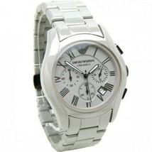 Emporio Armani AR1459 White Ceramic Chronograph Mens watch - $136.52