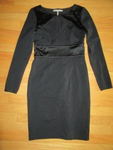 9Y/HALSTON HERITAGE BLACK CUT OUT DRESS/LONG SLEEVE/SIZE 4! - $29.65
