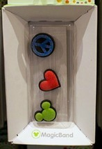 Disney Parks Peace Love Mickey Magic Band Bandits Set of 3 Charms - $6.92