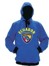 Ecuador Polyester Warm Fleece Hoodie Made in USA - $37.99