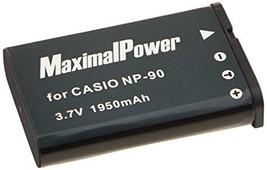 Camera Battery For Casio NP-90 Exilim EX-FH100 EX-H10 EX-H15 EX-H20G 1950mAh - $2.99
