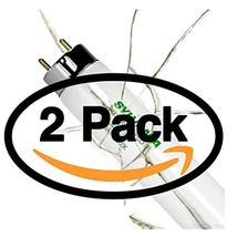 (2 Pack) Sylvania 21910 - FO25/830/XP/ECO3 - 25 Watt T8 Fluorescent Tube Light B - $0.00