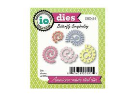 Impression Obsession Spiral Flowers Dies, Set of 5 #DIE042-1 image 2