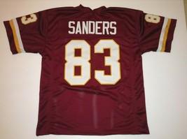 UNSIGNED CUSTOM Sewn Stitched Rickey Sanders Burgundy Jersey - M, L, XL,... - $33.99
