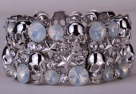 Skull star stretch bracelet bangle for women - $26.39
