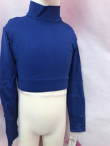 Body Wrappers Bw Prowear Jubeln Jumper Turtleneck Crop , Blau, Kind 4-6,... - $12.96