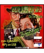 DETECTIVE/MYSTERY SAMPLER OLD TIME RADIO SHOWS - 290+ VINTAGE EPISODES - MP3 USB - $12.99