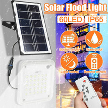 60led Solar Flood Light Smd2835 Garden Wall Lamp Ip65 Waterproof Lightin... - $34.43