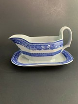 RARE VINTAGE COPELAND SPODE HERITAGE BLUE EAGLE GRAVY WITH ATTACHED UNDE... - $125.00