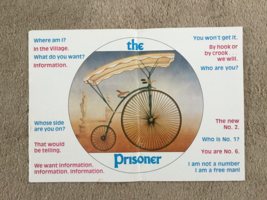 """THE PRISONER"" TV SHOW POSTER  b/w  CAST & PRODUCTION CREW GUIDE - TWO-S... - $14.99"
