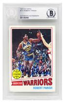 Robert Parish Signed Golden State Warriors 1977 Topps Basketball Rookie ... - £91.68 GBP