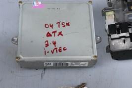 04 TSX 2.4L ATX ECU ECM Engine Module Ignition w/ Immo & 1 Key 37820-RBB-A54 image 2