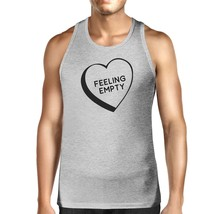 Feeling Empty Heart Men's Grey Unique Design Tank Top Gifts For Him - $14.99