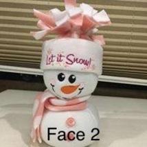 Snowman (Handmade and machine embroidered  - $20.00