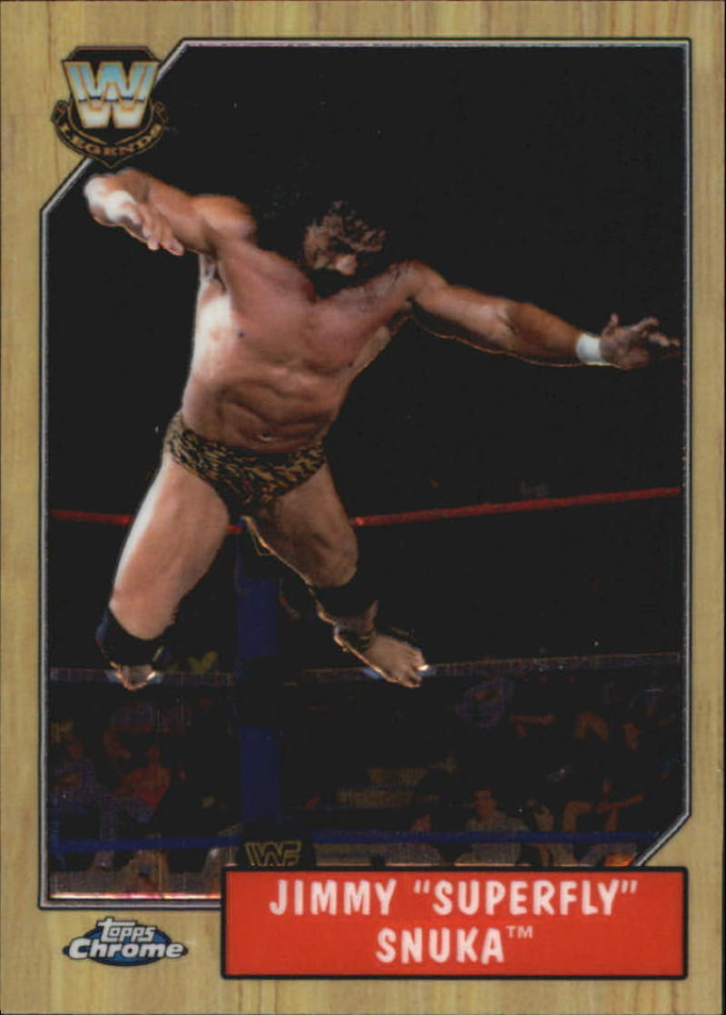 Primary image for 2008 Topps WWE Heritage Chrome III #76 Superfly Jimmy Snuka NM-MT