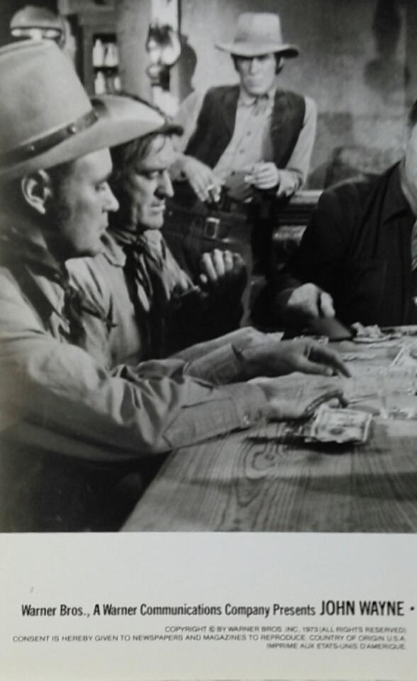 Vintage John Wayne Studio Black and White Photo - The Train Robbers
