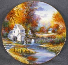 Woodland Mill Stream Collector Plate Season Of Splendor Kirk Randle 84-K41-153.3 - $17.95