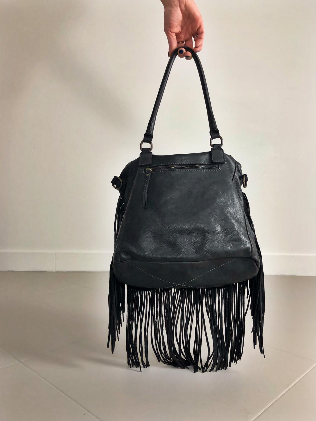 FRINGE BAG handamde leather bag  image 5
