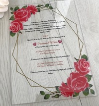 Custom Acrylic Wedding Invitations,10pcs Acrylic Invites,Acrylic Invitat... - $32.00