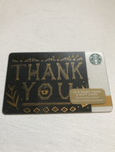Starbucks Gift Card - NEW - BLACK & GOLD THANK YOU 2017 - $1.19