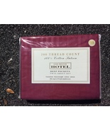 Fine Deluxe Hotel Cotton Sateen Sheet Set - 300 Thread Count Burgundy Sh... - $15.99