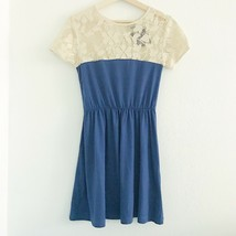 ASOS knit cream blue lace knit dress sz 4 / Small NWT - $16.00