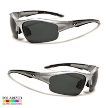 Polarized Men Wrap Around Fashion Sunglasses Fishing silver Running Sport Glasse - $9.89