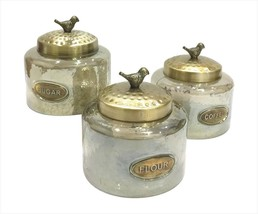 Glass Jars Wide, Hammered Small Storage Candy Food Glass Jars Clear,  3pc - $41.99