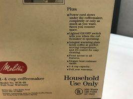 Vintage MELITTA 4s ELAN Coffee MAKER Original BOX Never Used UNTESTED image 5