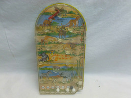 Vtg Retro Wolverine African Jungle Hunt Tin Hand Held Table Pin Ball Game - $34.99