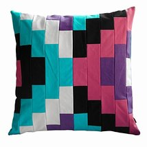 Black Temptation Unique Patchwork Pillows Sofa/Bed Decorative Pillows Insert Inc - $38.50