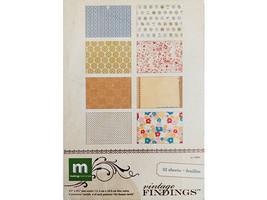 "Making Memories Vintage Findings Mat Stack, 32 Sheets, 4.5"" x 6.5"", Cardstock"