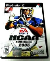 PS2 GAME EA SPORTS NCAA FOOTBALL 2005 E RATED WITH ORIGINAL DISC MANUAL... - $3.94