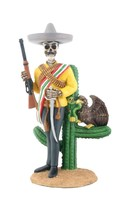 Day of The Dead Dod Emiliano Zapata Salazar Figurine - $32.45
