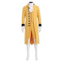 Mens Medieval Cosplay Costume 18th Century British Suit Yellow Gentleman... - $126.96