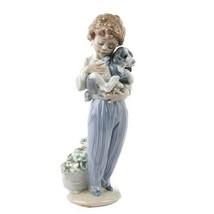 "Lladro #7609 ""My Buddy"" Figurine, Young Boy w/ Dog Collector's Society Retired! - $178.20"