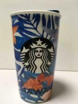 Starbucks 2015 Hawaii Hibiscus Flower Dot Collection Ceramic Tumbler NEW - $199.65