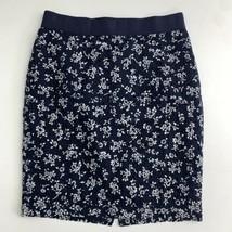 Ann Taylor Straight & Pencil Skirt Women's 2P Petite Navy Floral Eyelet ... - $17.99