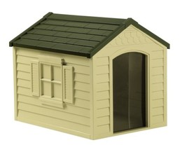All Weather Outdoor Big Pet Dog House Roof & Floor Houses Cats Home Pets... - $81.40
