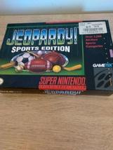 Super Nintendo SNES Jeopardy: Sports Edition ~ COMPLETE image 1