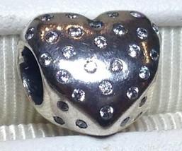 "Pandora ""Sparkle of Love"" Sterling &Handset Clear CZ Charm- Sale $26 Ret... - $25.74"