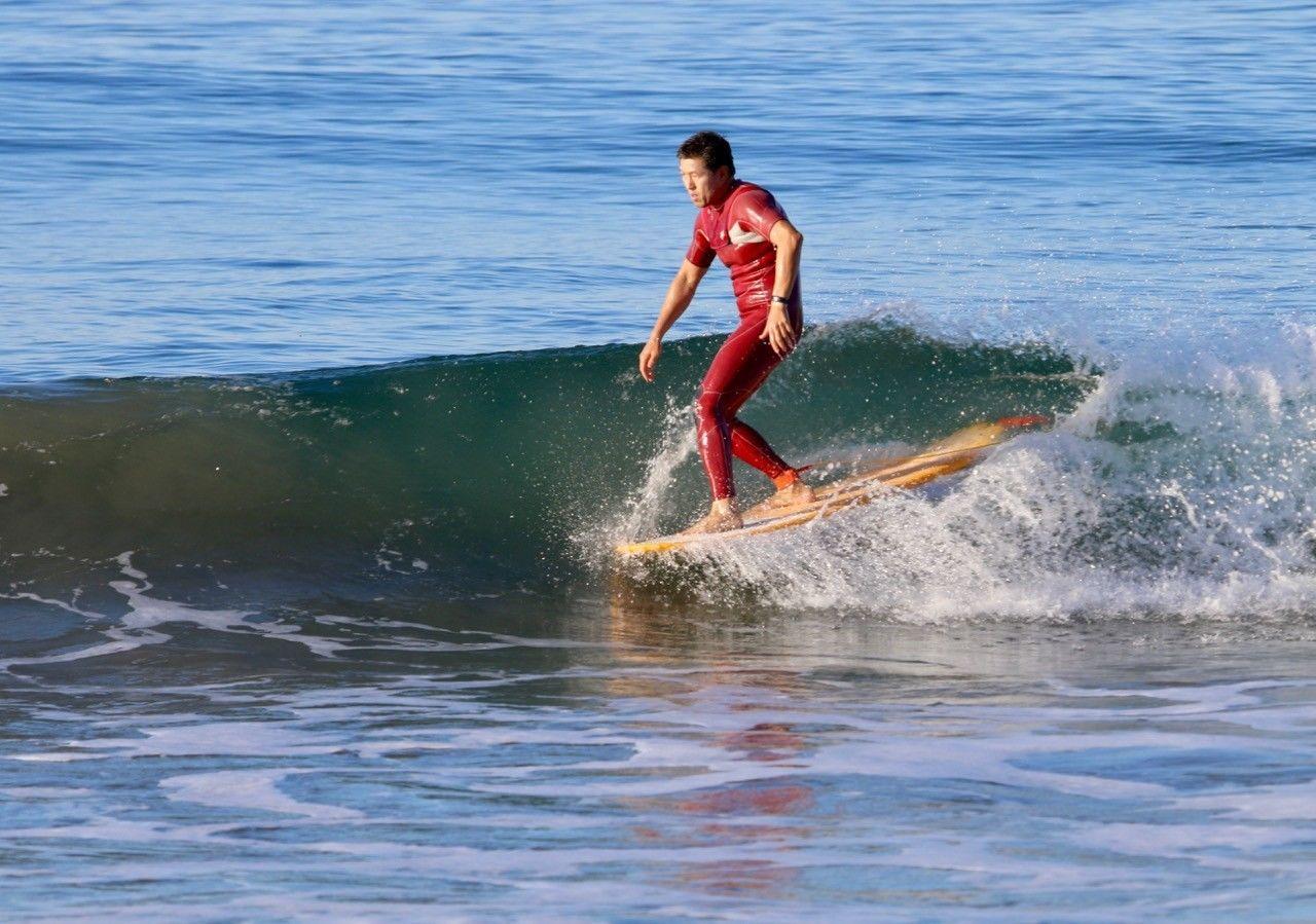 """Paragon Surfboards Retro Noserider 9'0"""" Multi-Color Surfboard"""
